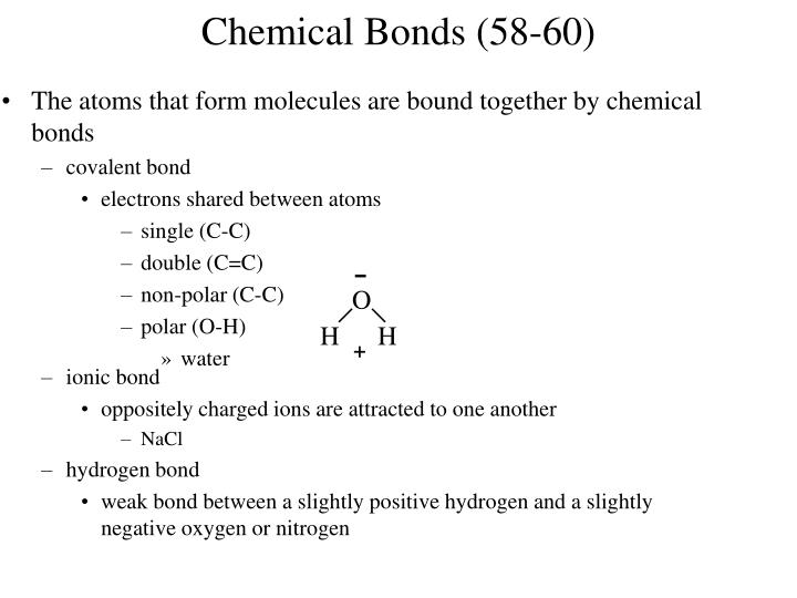 Chemical Bonds (58-60)