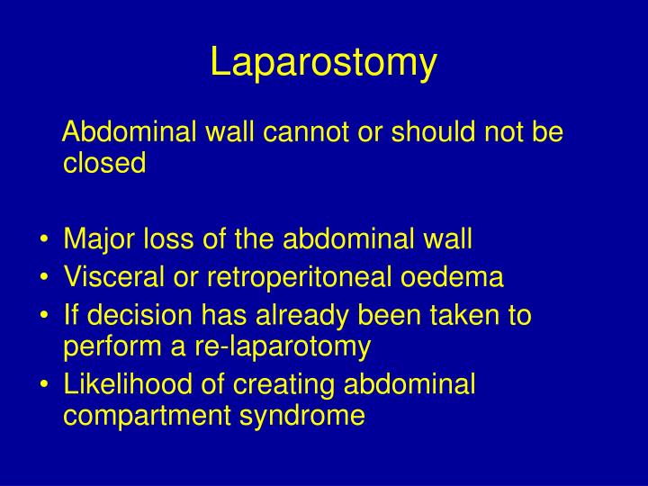 Laparostomy