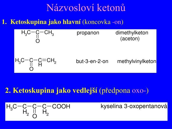 Názvosloví ketonů
