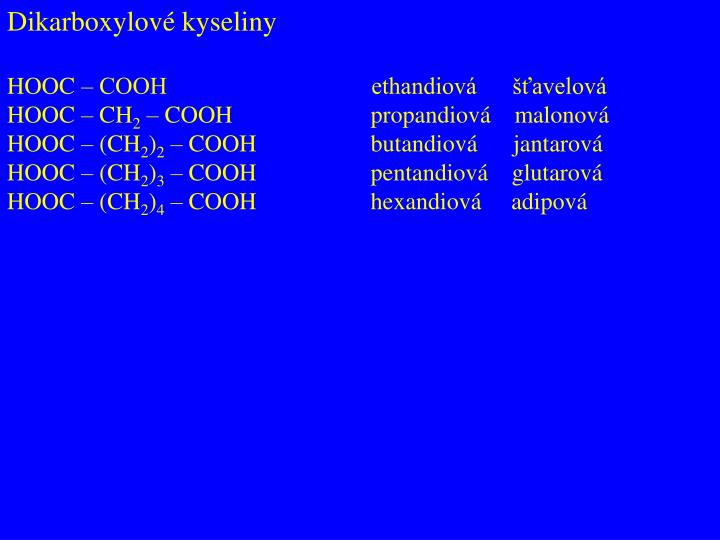 Dikarboxylové kyseliny