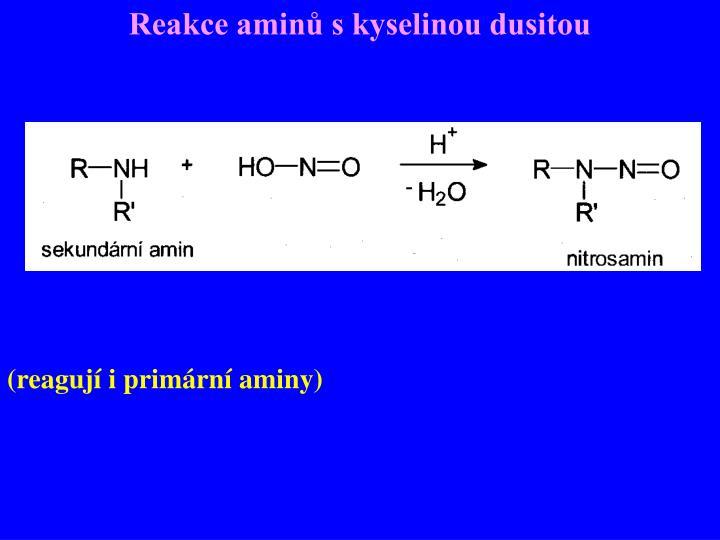 Reakce aminů s kyselinou dusitou