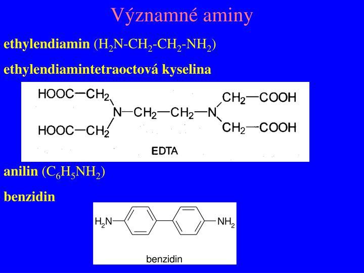 Významné aminy