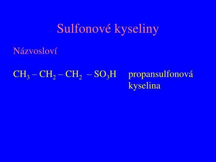 Sulfonové kyseliny