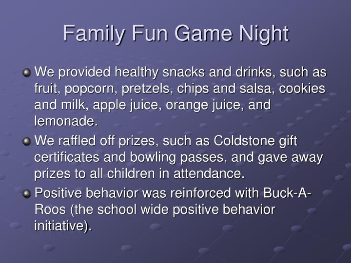 Family Fun Game Night