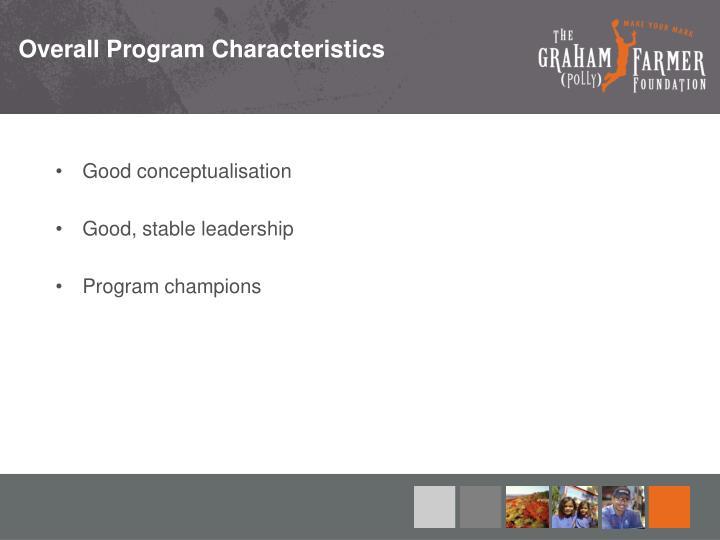 Overall Program Characteristics
