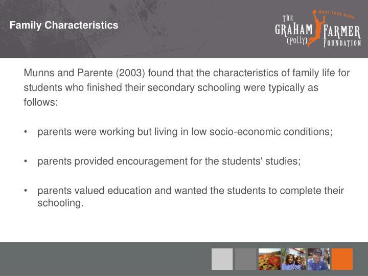 Family Characteristics