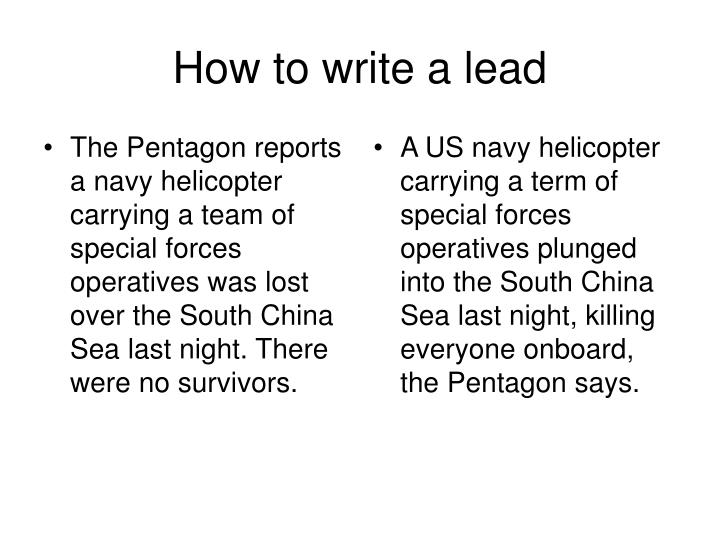 The Pentagon reports a navy helicopter carrying a team of special forces operatives was lost over the South China Sea last night. There were no survivors.