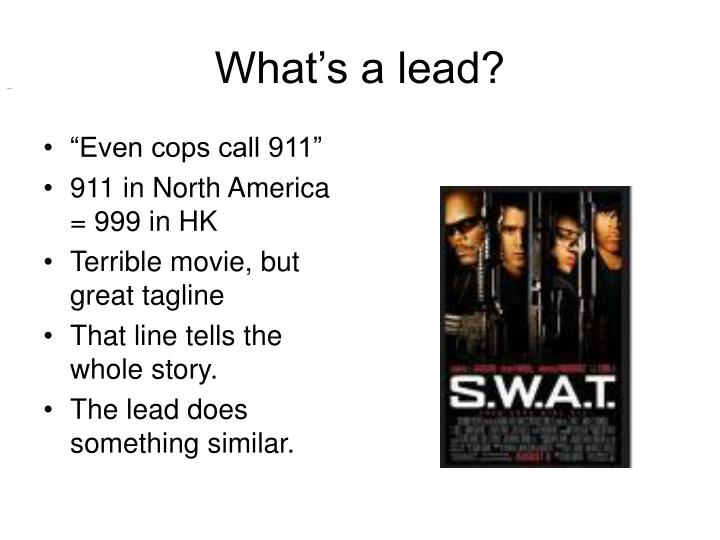 What's a lead?