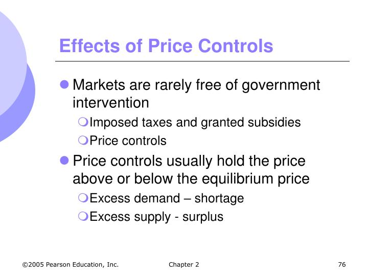 Effects of Price Controls