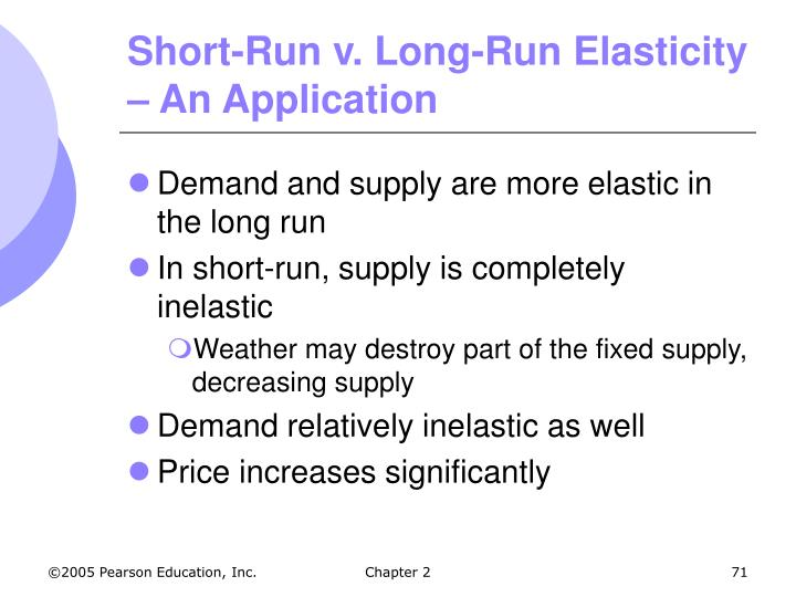 Short-Run v. Long-Run Elasticity – An Application