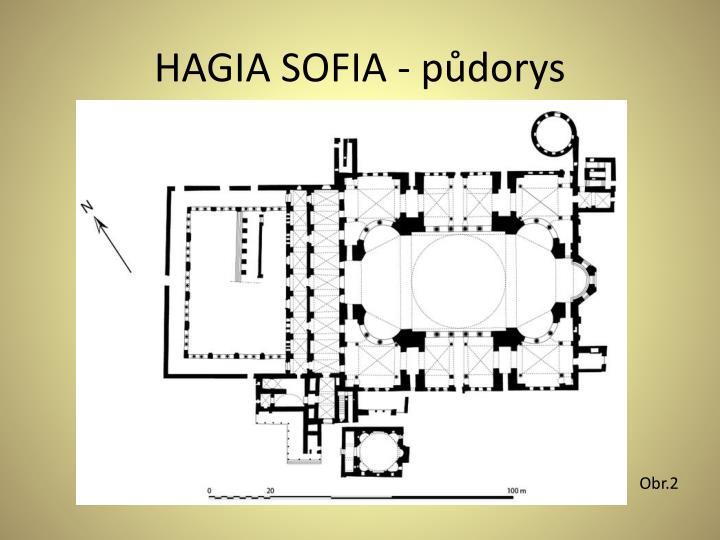 HAGIA SOFIA - půdorys