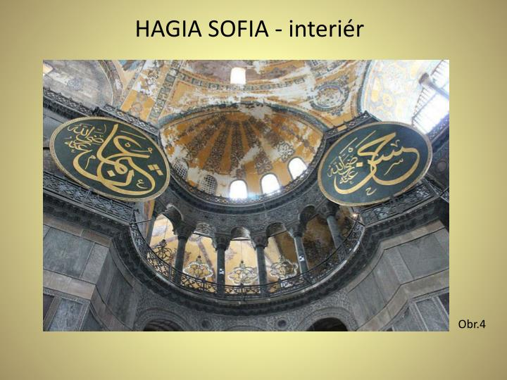 HAGIA SOFIA - interiér