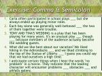 exercise comma semicolon