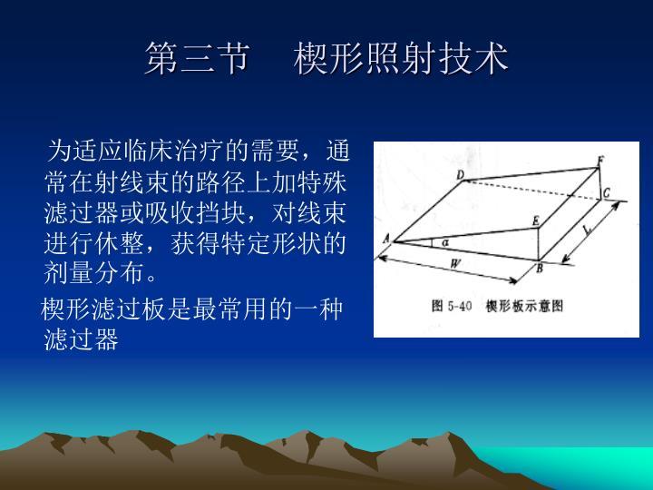 第三节    楔形照射技术
