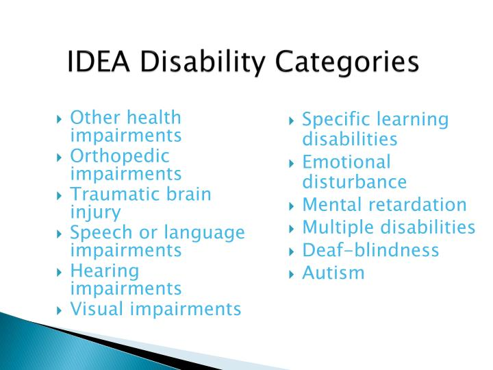 IDEA Disability Categories
