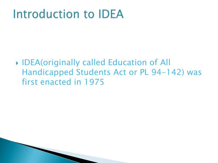 Introduction to IDEA