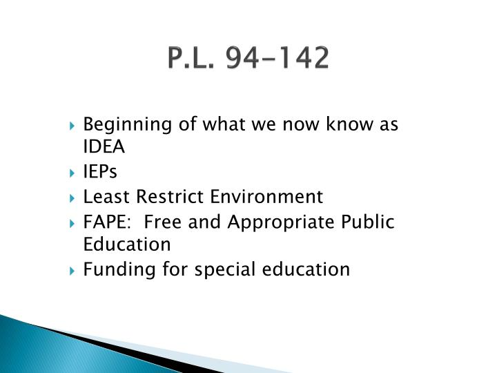 P.L. 94-142