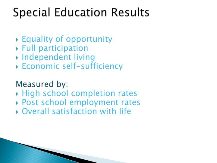 Special Education Results