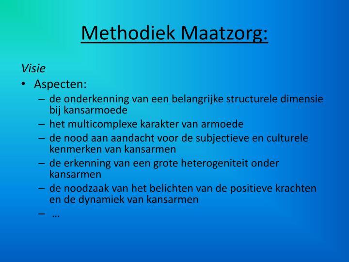 Methodiek Maatzorg: