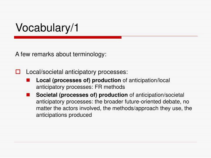Vocabulary/1
