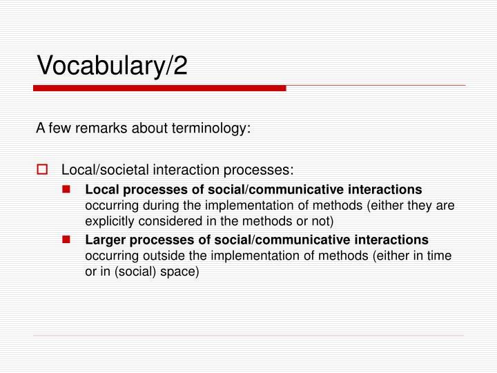 Vocabulary/2