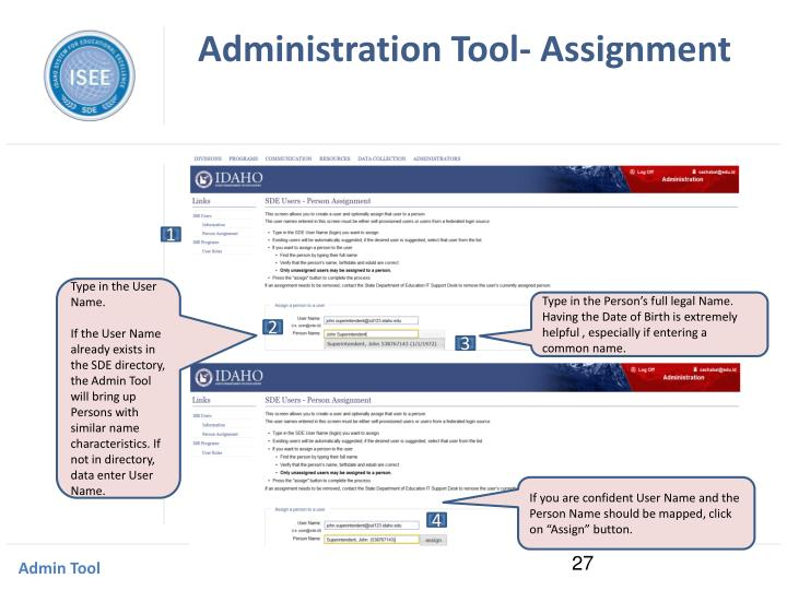 Administration Tool- Assignment