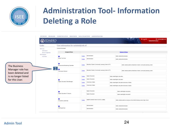 Administration Tool- Information