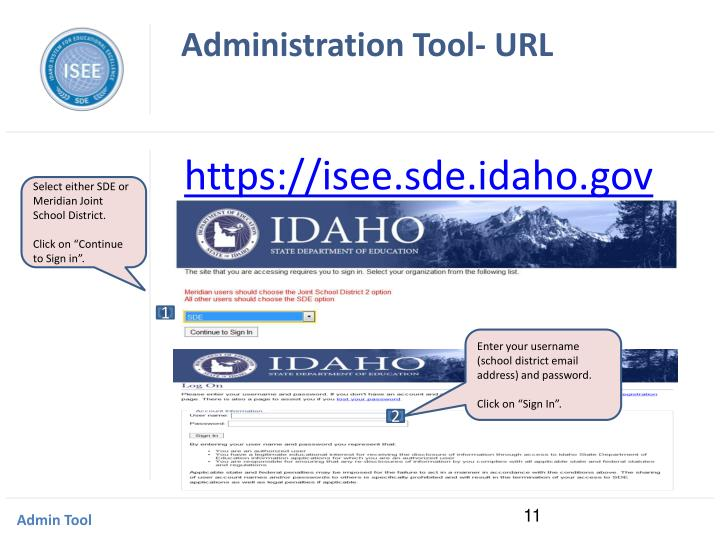 Administration Tool- URL
