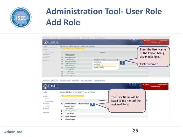 Administration Tool- User Role