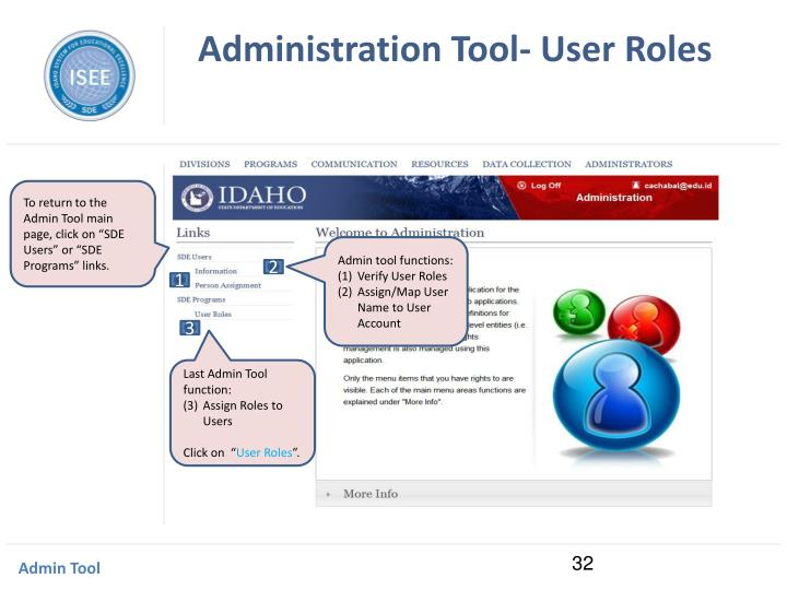 Administration Tool- User Roles