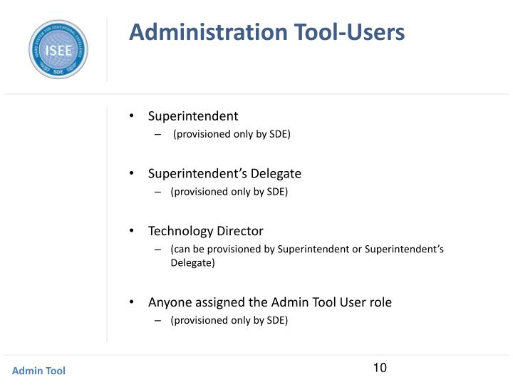 Administration Tool-Users