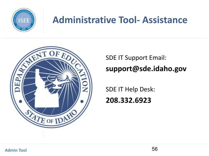 Administrative Tool- Assistance