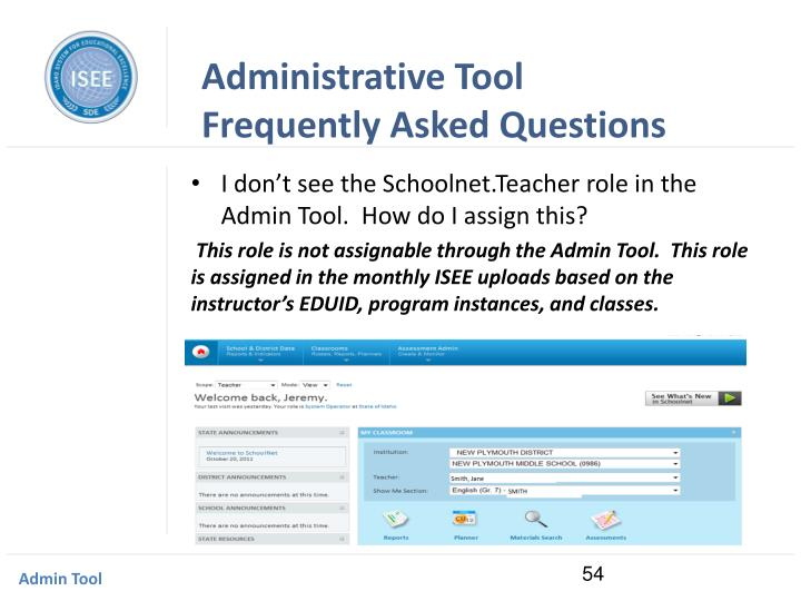 Administrative Tool