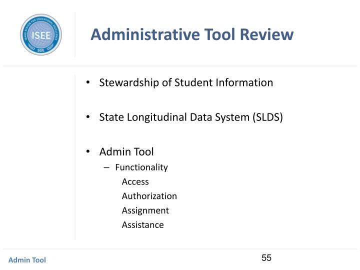 Administrative Tool Review