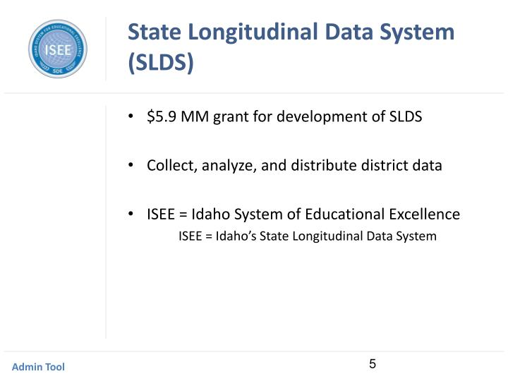 State Longitudinal Data System (SLDS)