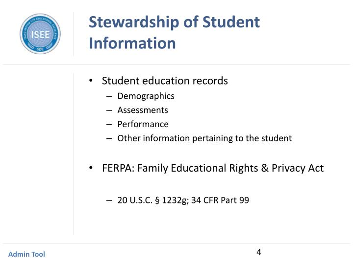 Stewardship of Student Information
