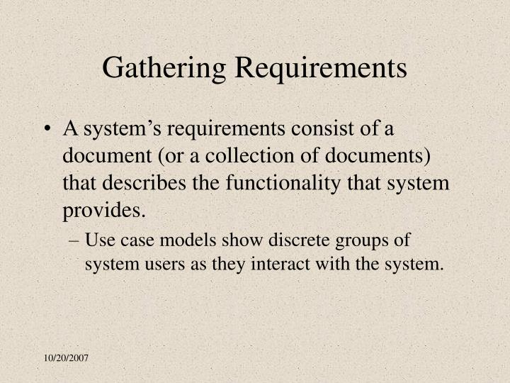 Gathering Requirements