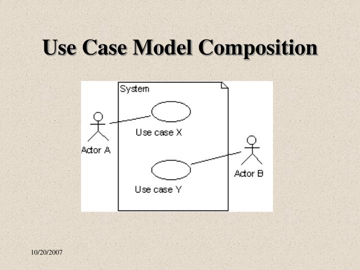 Use Case Model Composition