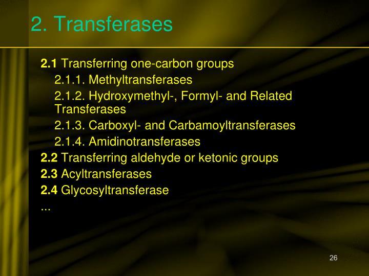 2. Transferases