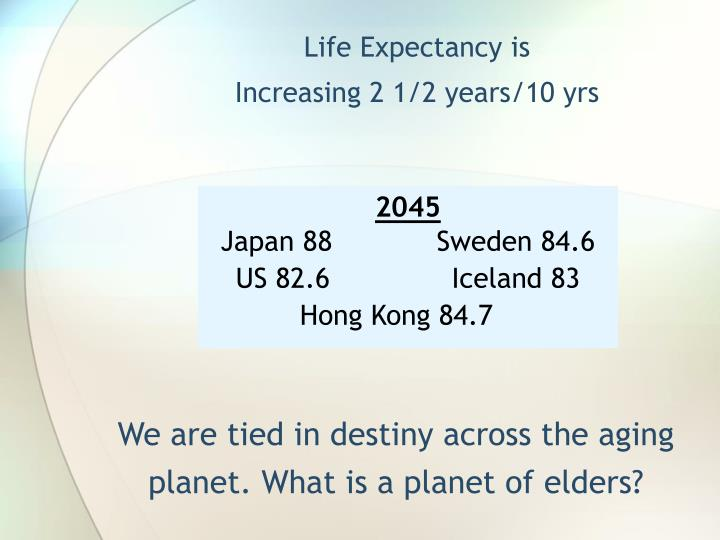 Life Expectancy is