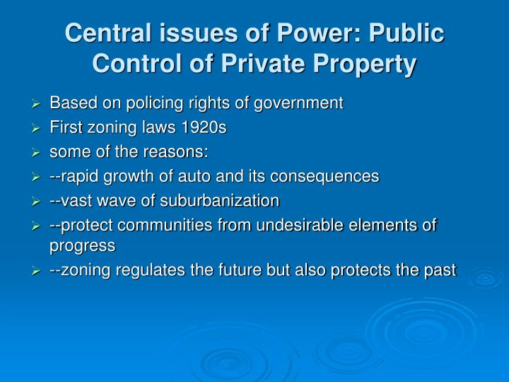 Central issues of Power: Public