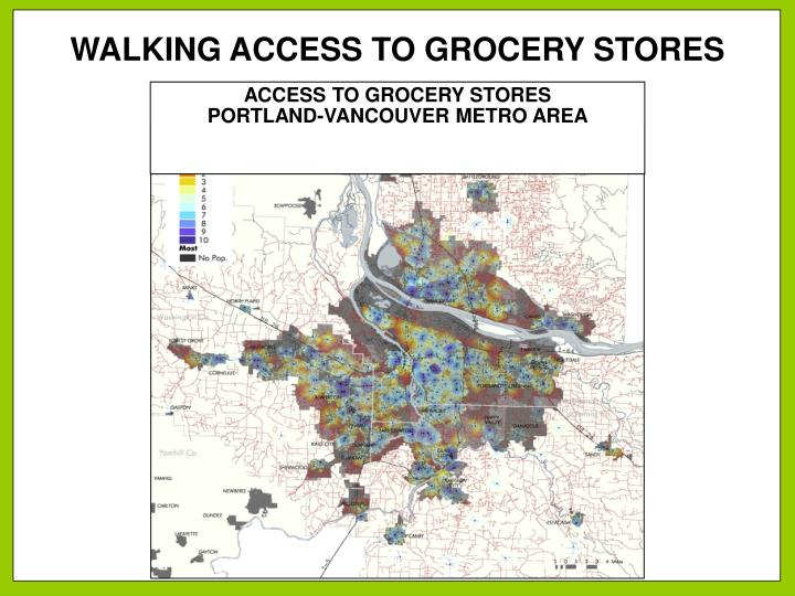 WALKING ACCESS TO GROCERY STORES