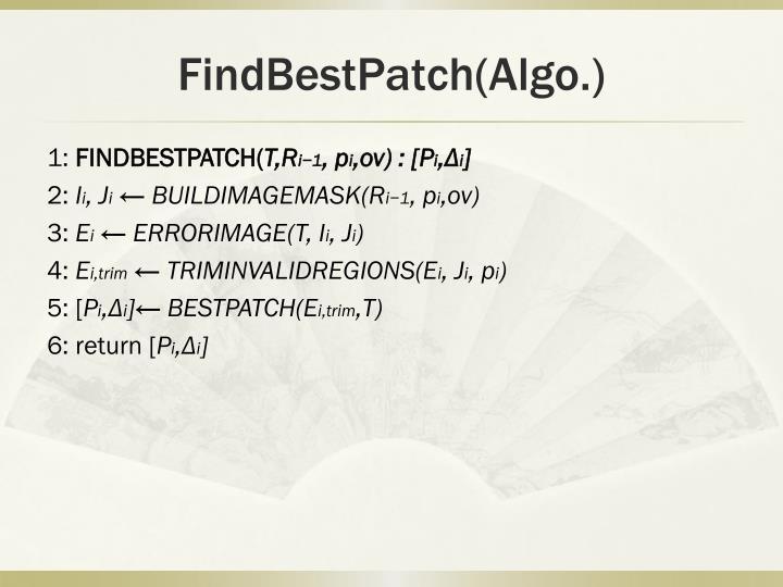 FindBestPatch(Algo.)