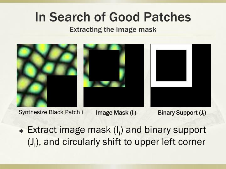 In Search of Good Patches