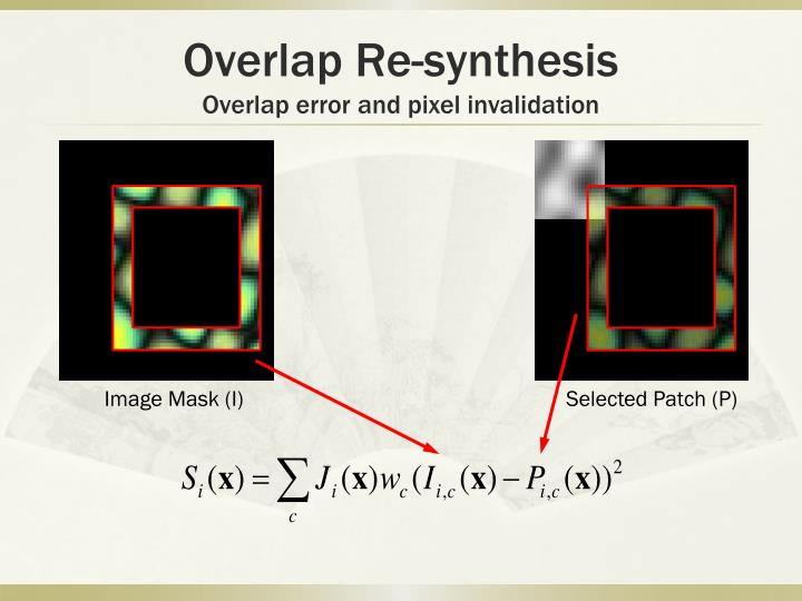 Overlap Re-synthesis