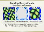overlap re synthesis pixel traversal map ordering4