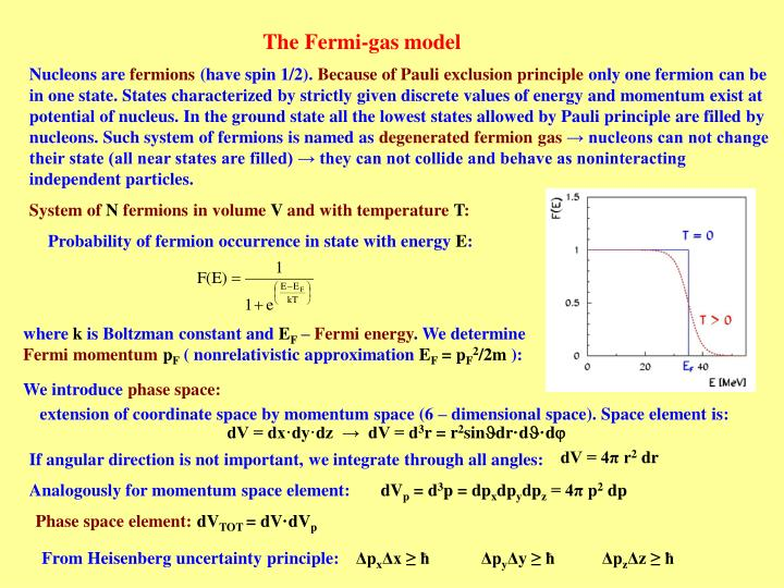 The Fermi-gas model