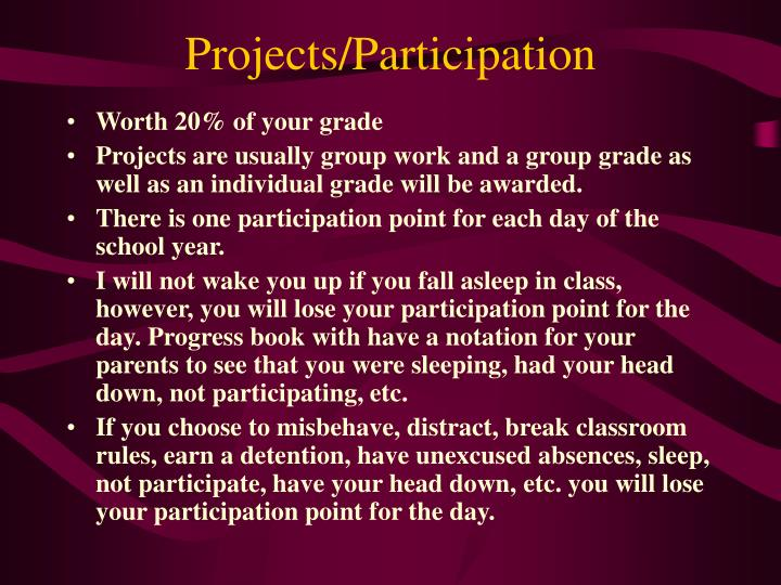 Projects/Participation