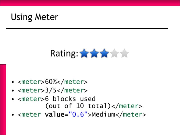 Using Meter