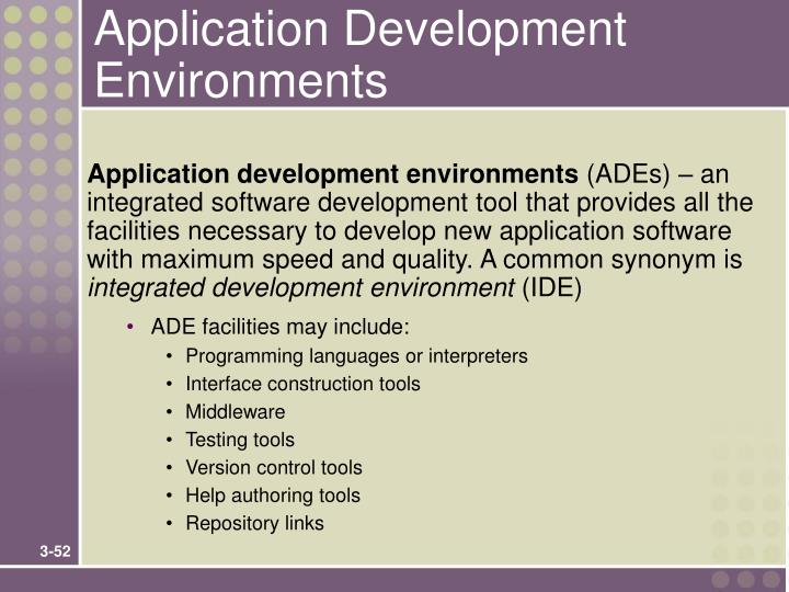 Application Development Environments